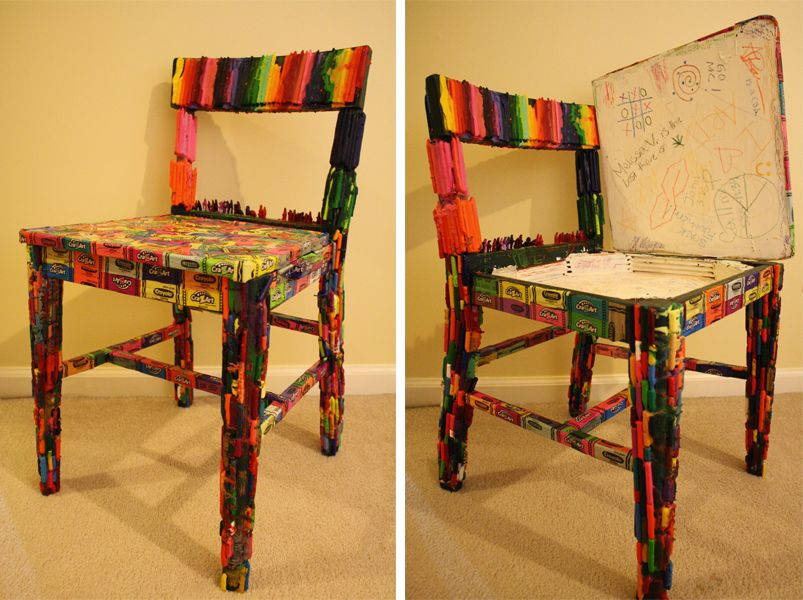 Crayola Chair Made By Mary Lane Barnes 2012 Out Of An Old