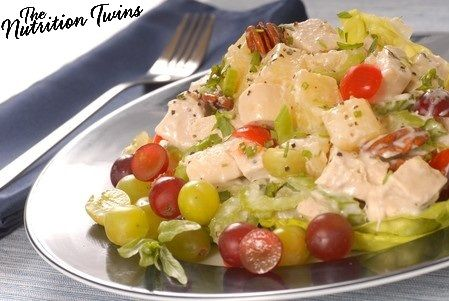 Crunchy Chicken Salad | Only 218 Calories for Entire Meal | Sweet, Crunchy, Creamy & Satiating | 23 grams Protein | For MORE RECIPES please SIGN UP for our FREE NEWSLETTER www.NutritionTwins.com