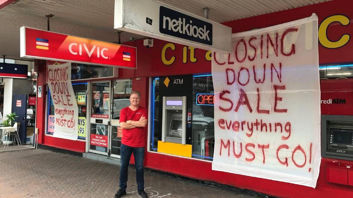 Delightful Owner John Price Outside His Last Video Store, Bondi