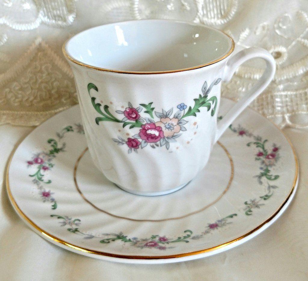 Celestine Bulk Teacups Includes 6 Inexpensive Tea Cups with 6 ...