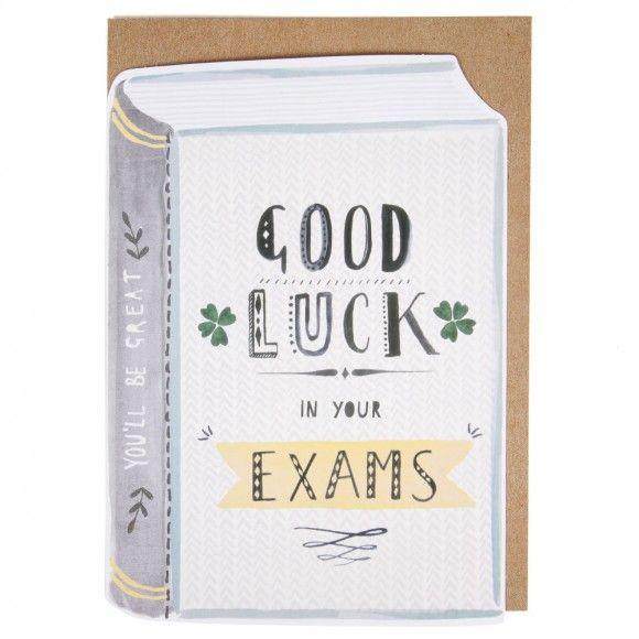Good Luck In Your Exams Book Card Knutselideeen Pinterest