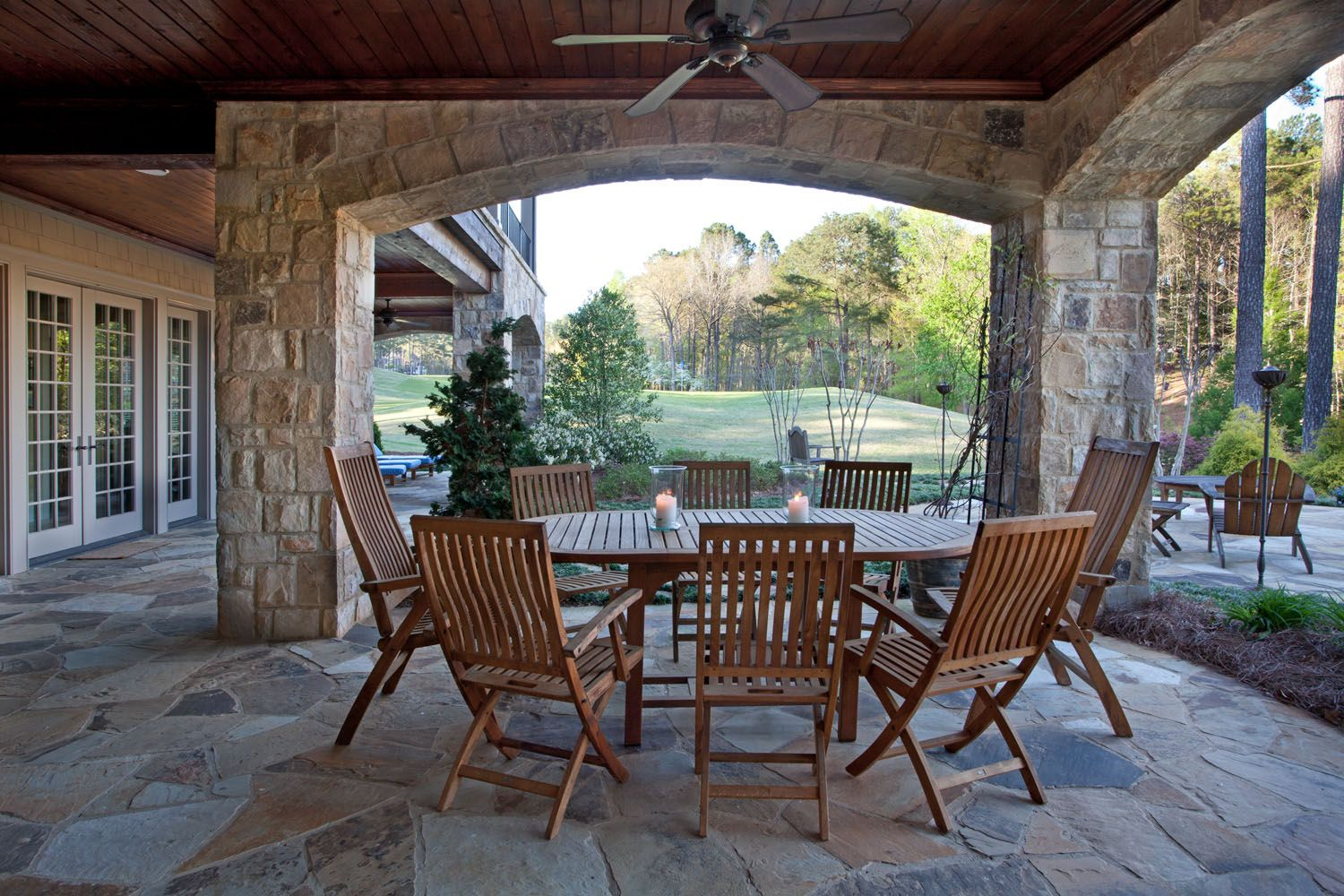 Keep Your Guests Cool And Bugs Away With An Outdoor Ceiling Fan Above Your  Dining Table