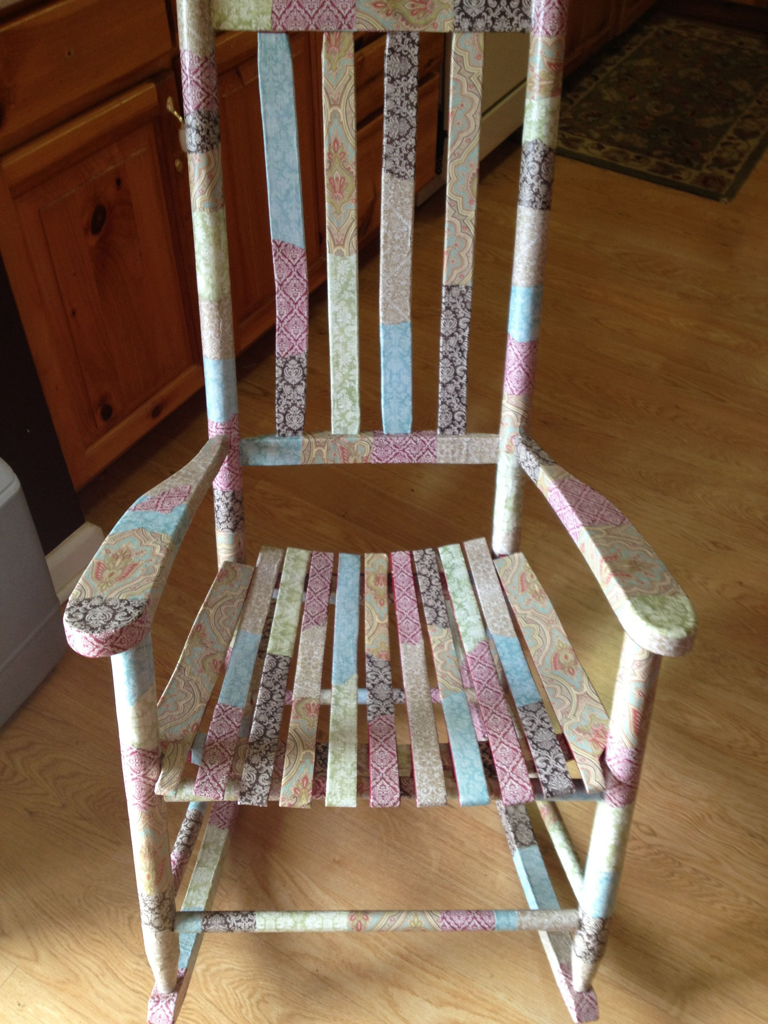 mod podge rocking chair for the home furniture chair painted rh pinterest com