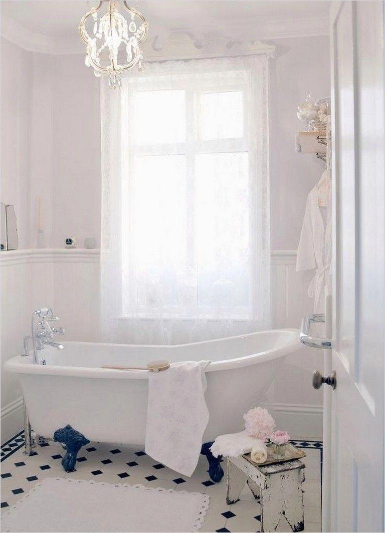 40 elegant shabby chic bathroom decorating ideas bathroomdecor rh pinterest com