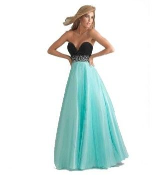 cute long mint green and black sweetheart corset formal