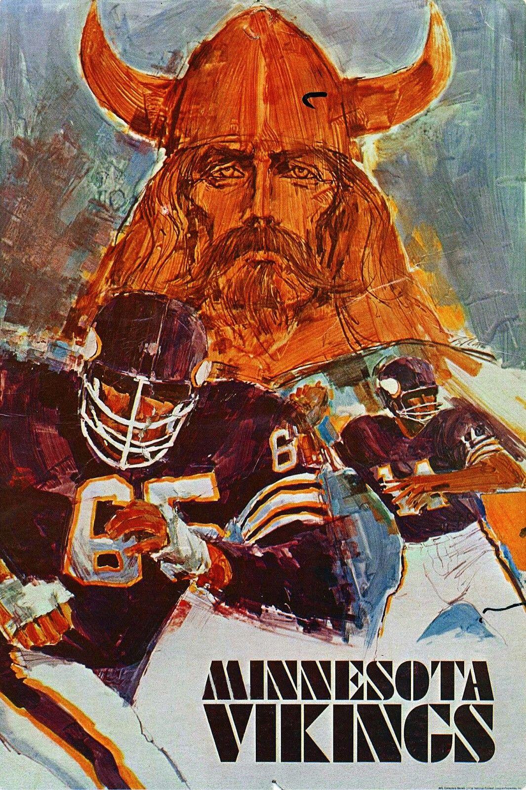 b1d26767a 1968 Minnesota Vikings Poster Redskins Football