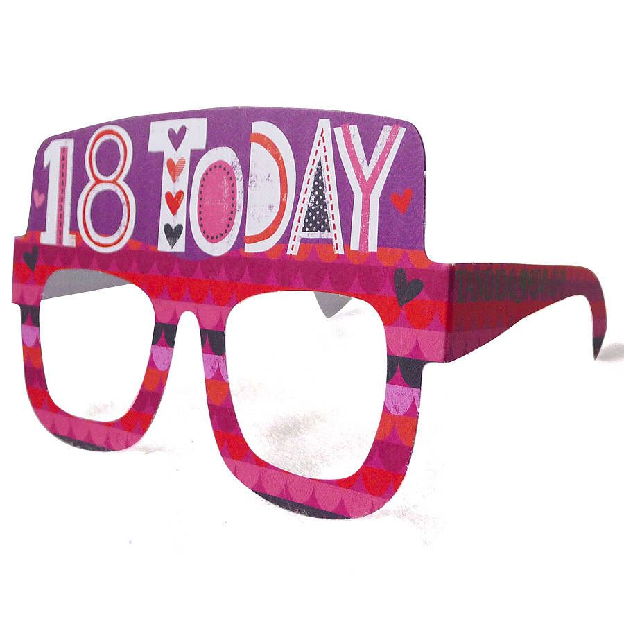 18th birthday card glasses for her girl birthday cards