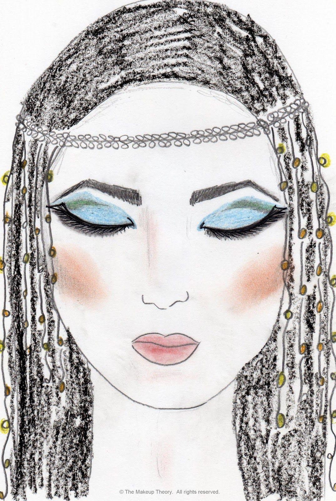 Egyptian Makeup Hair Design
