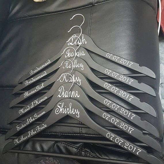 Custom personalised diy wedding coat hanger decal vinyl sticker hanger not included this list