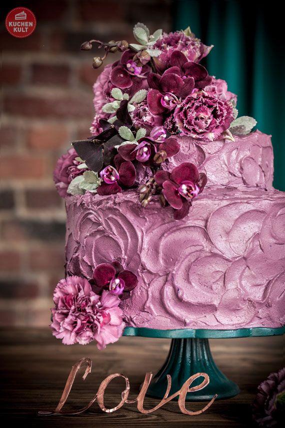 Hochzeitstorten Trend Teil 1 Urban Chic in Violett  Flieder Lila Violett  Hochzeitstorte