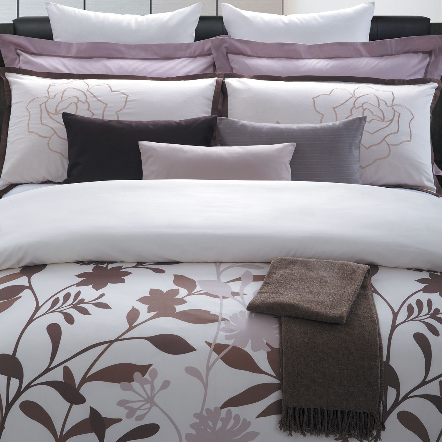 Bed room Cotton floral duvet covers are