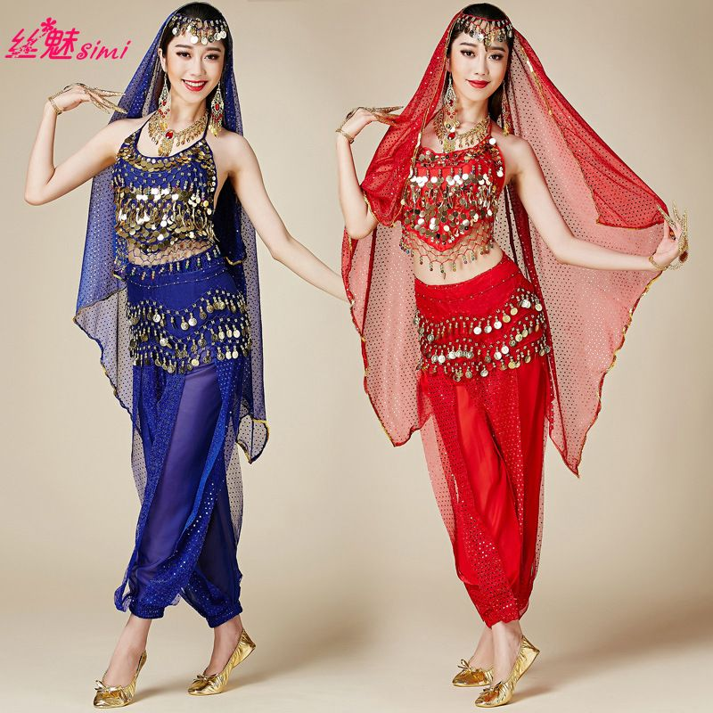 Click To Buy Girls Bollywood Dance Costumes Indian Belly Dance Costumes Pants And Top Bra Set Fo Bollywood Dance Costumes Belly Dance Dress Dance Outfits