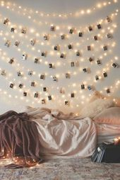 Photo of DIY decoration youth room girl room wall decoration fairy lights #decoration, #Decorati …