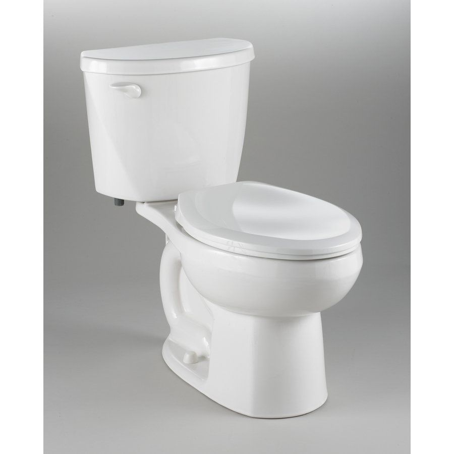 American Standard 3469500.020 White 1.6 GPF Elongated 2-Piece Toilet ...