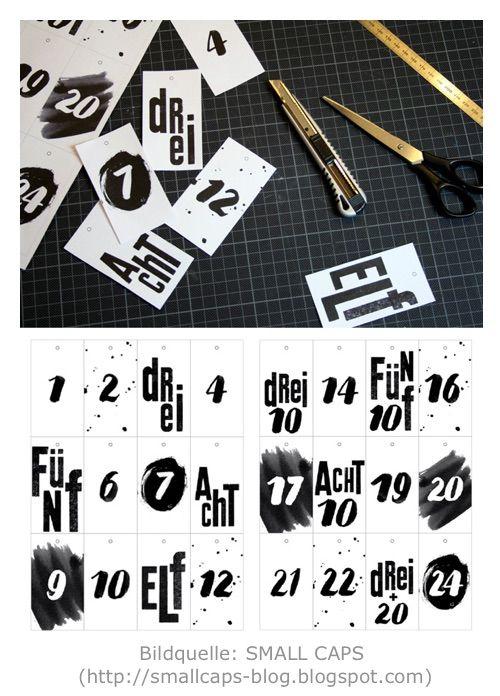 DIY: Adventskalender selber basteln - 7 Free Printables
