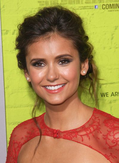 Swell Updo Hairstyles Nina Dobrev Romantic And Updo Short Hairstyles Gunalazisus