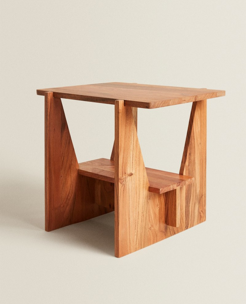 Zara Home S Latest Drop For Spring Shines A Spotlight On Luxe Looking Furniture In 2020 Table Furniture Zara Home Side Table