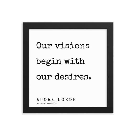 61  | Audre Lorde Quotes|  Framed Print  | 200302 | Literary Quotes