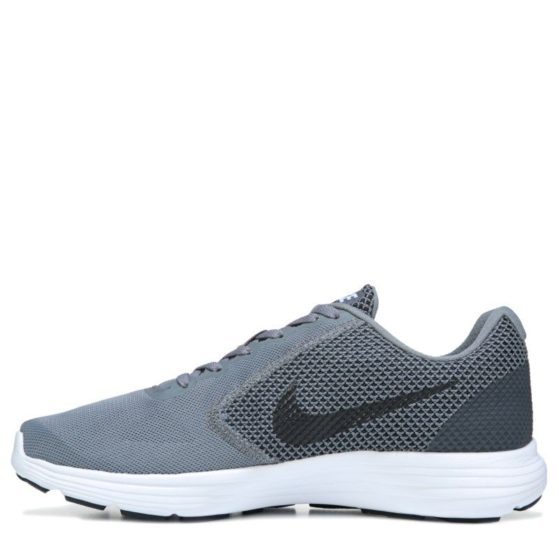 344bde418d91 Nike Men s Revolution 3 Running Shoes (Grey Black) - 10.0 D
