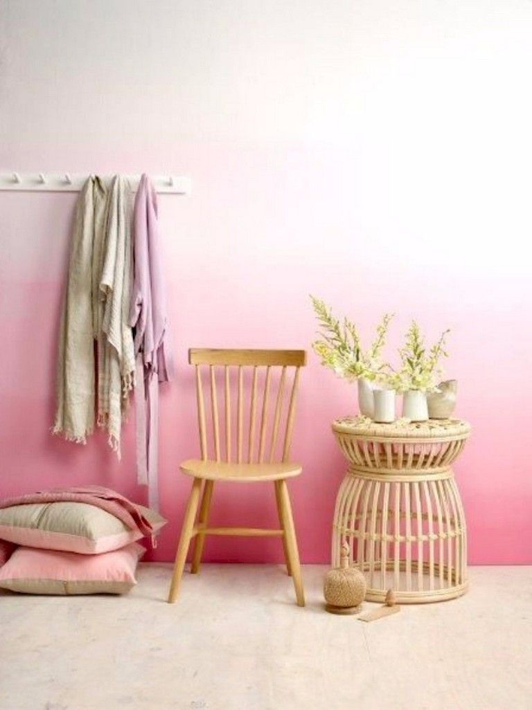 18 Awesome Diy Painted Ombre Wall For Apartment Decor