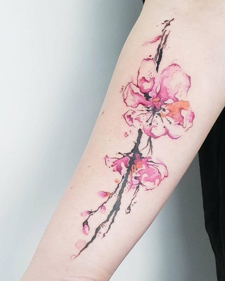 27 Charming Cherry Blossom Tattoo Examples Blossom Tattoo Cherry Blossom Tattoo Sakura Tattoo