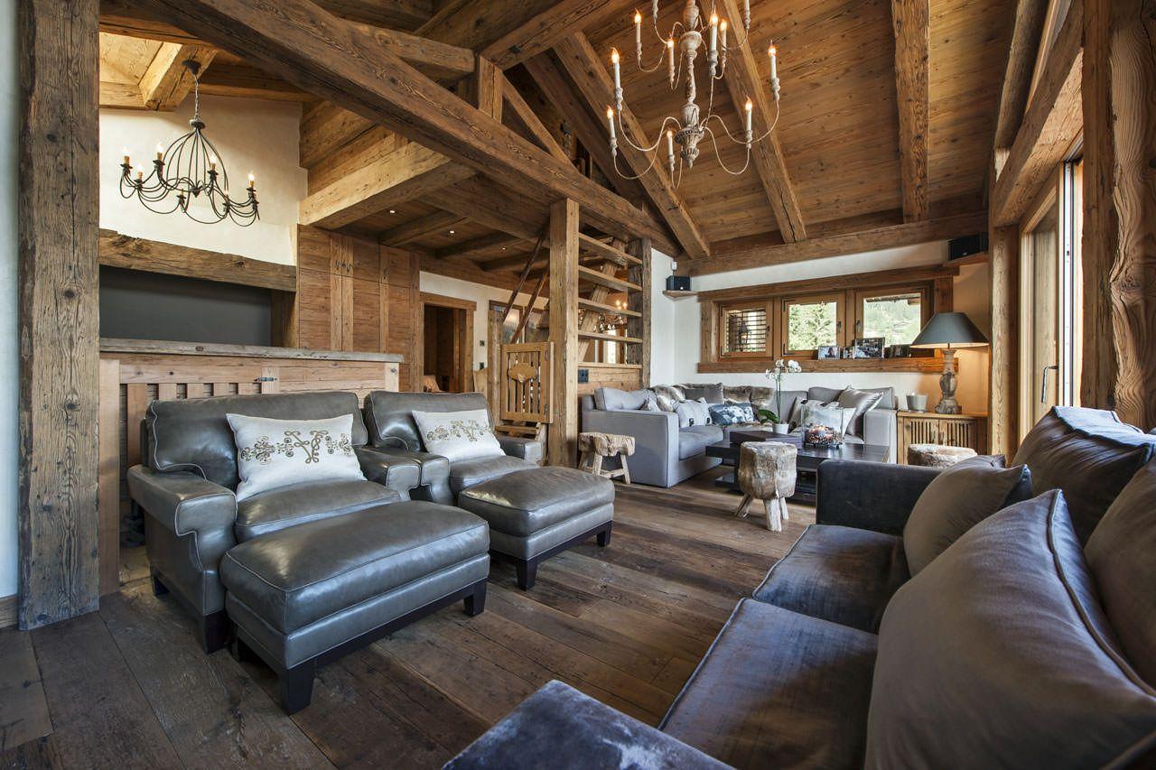 Chalet annelies living area logs cabins pinterest log cabins