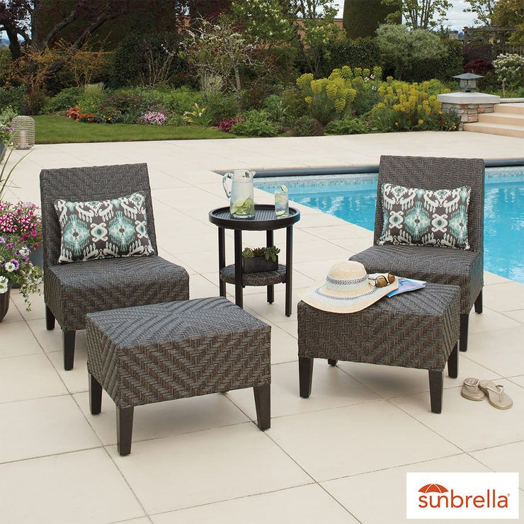 agio fairmont 5 piece woven chat set furniture outdoor furniture rh pinterest com
