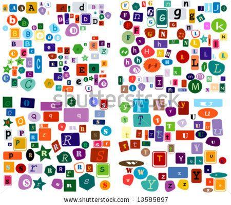 Alphabet letters to cut out cut out alphabet letters group magazine cut out font publicscrutiny Choice Image