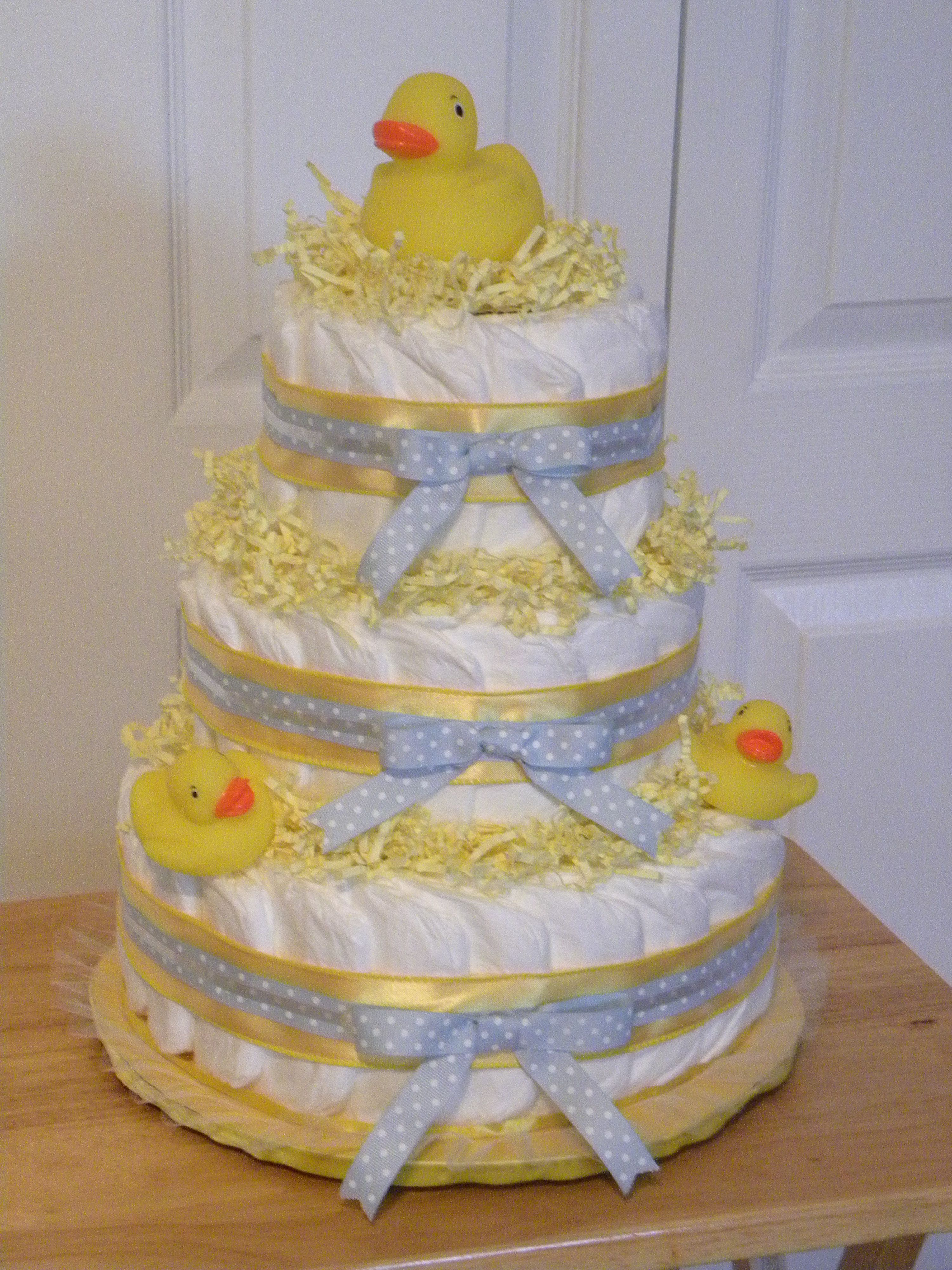 Rubber Duck Diaper Cake Duck Diapers