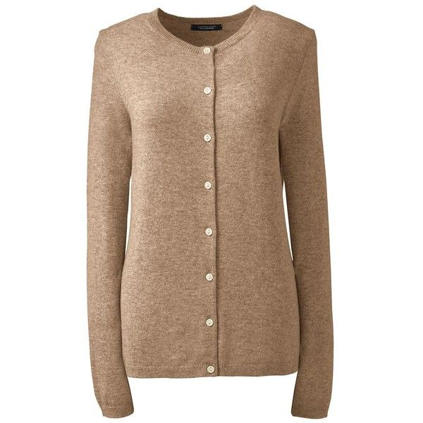 Lands' End Women's Petite Cashmere Cardigan Sweater ($169 ...