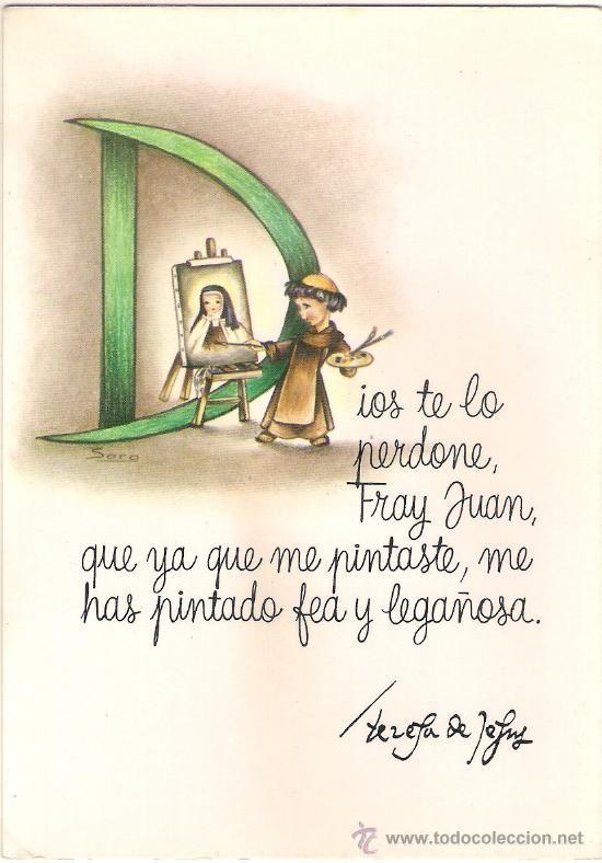 48454 Postal Dibujo Santa Teresa De Jesus Ilustracion Sara