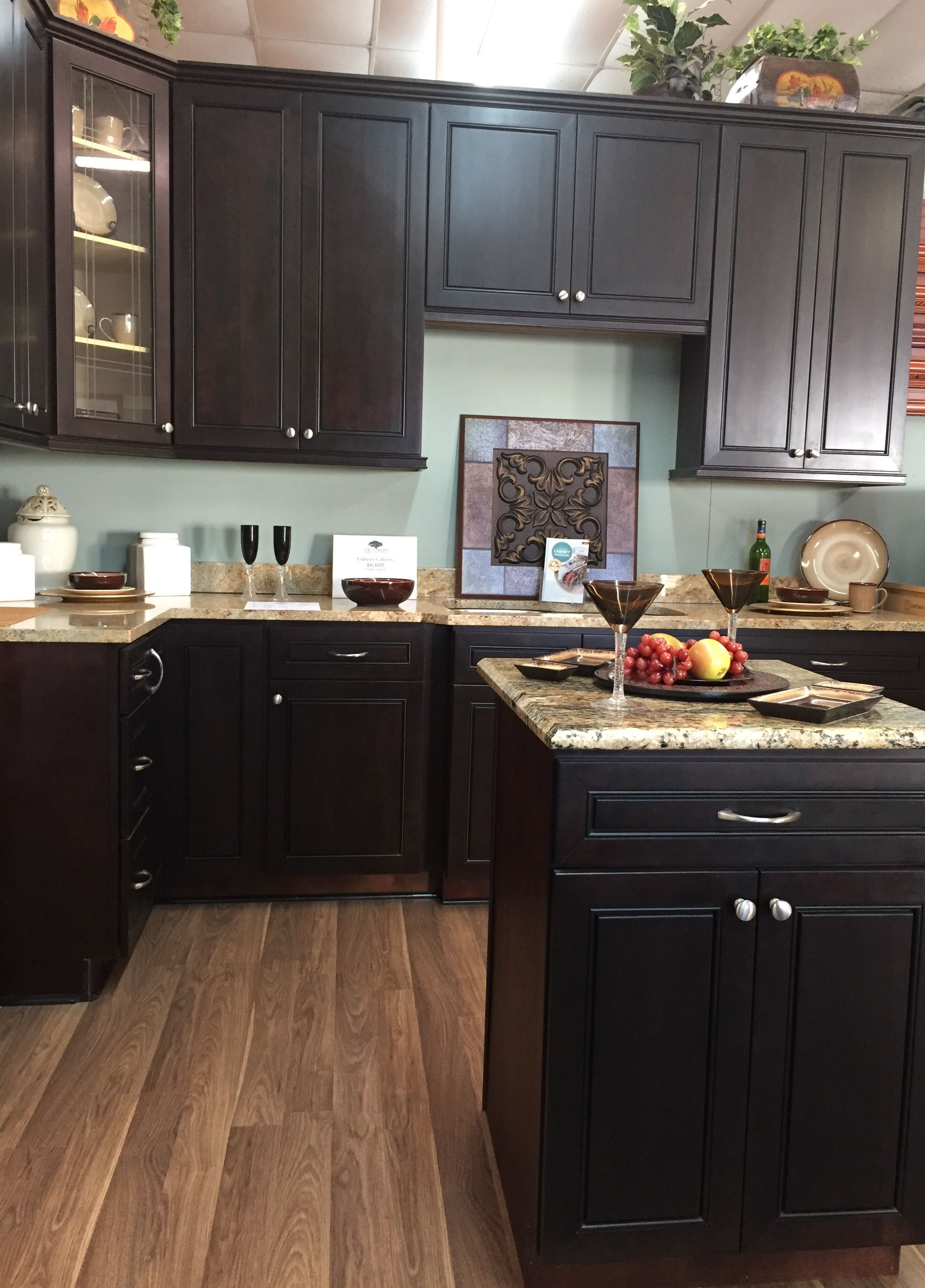 This Espresso Maple Is Sleek And Dark And Will Look Great With A Wide Variety Of Countertops And Flooring Maple Kitchen Cabinets Espresso Cabinets Diy Kitchen