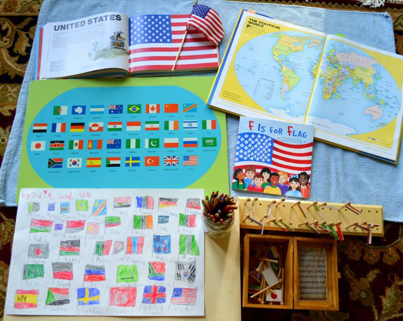 Flag Day Montessori Early Childhood Educational Materials