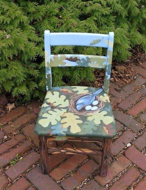 birdnest chair acrylic on small wooden chair this is a chair that i rh pinterest com