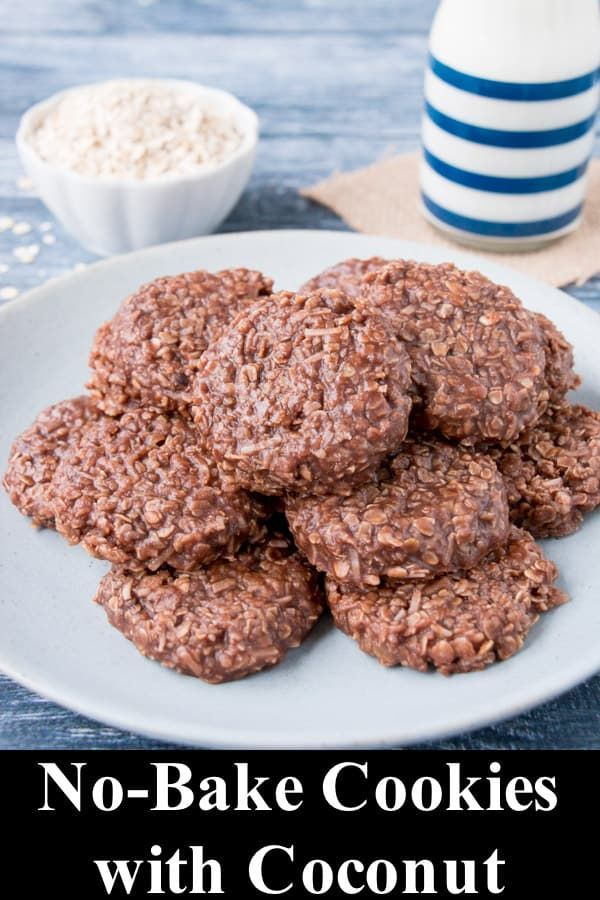 No Bake Cookies With Coconut Recipe With Images No Bake