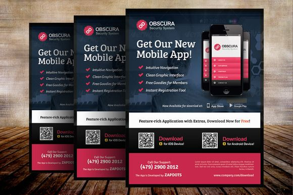 Mobile App Flyer Templates A Flyer Template Perfect For