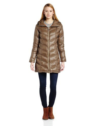 Calvin Klein Women`s Mid-Length Down Coat with Contouring - Listing price: $160.00 Now: $72.00
