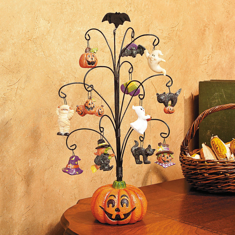 Halloween Pumpkin Tree with Ornaments OrientalTrading