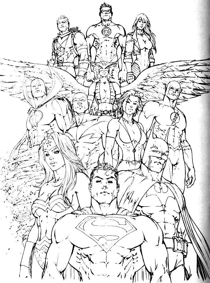 Justice League Coloring Pages 397972 720x969