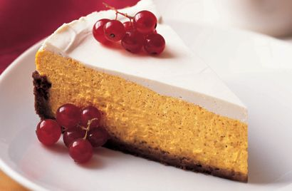 Pumpkin Cheesecake in Gingersnap Crust Recipe Pumpkin cheesecake