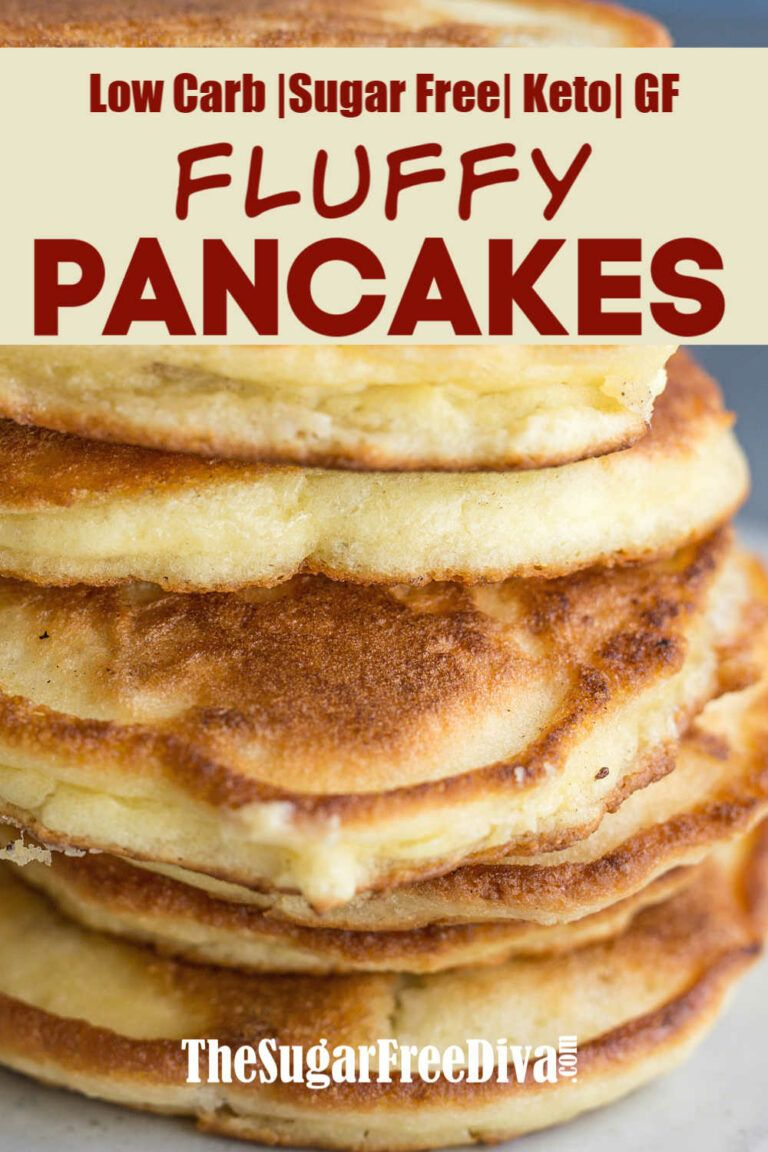 Easy Low Carb Keto Pancakes - THE SUGAR FREE DIVA