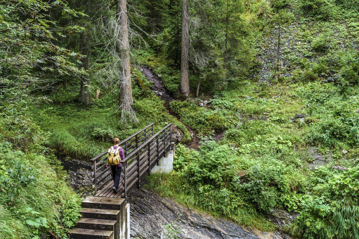 Trutg Dil Flem Wanderung Flimser Wasserweg Mit Karte Wandern