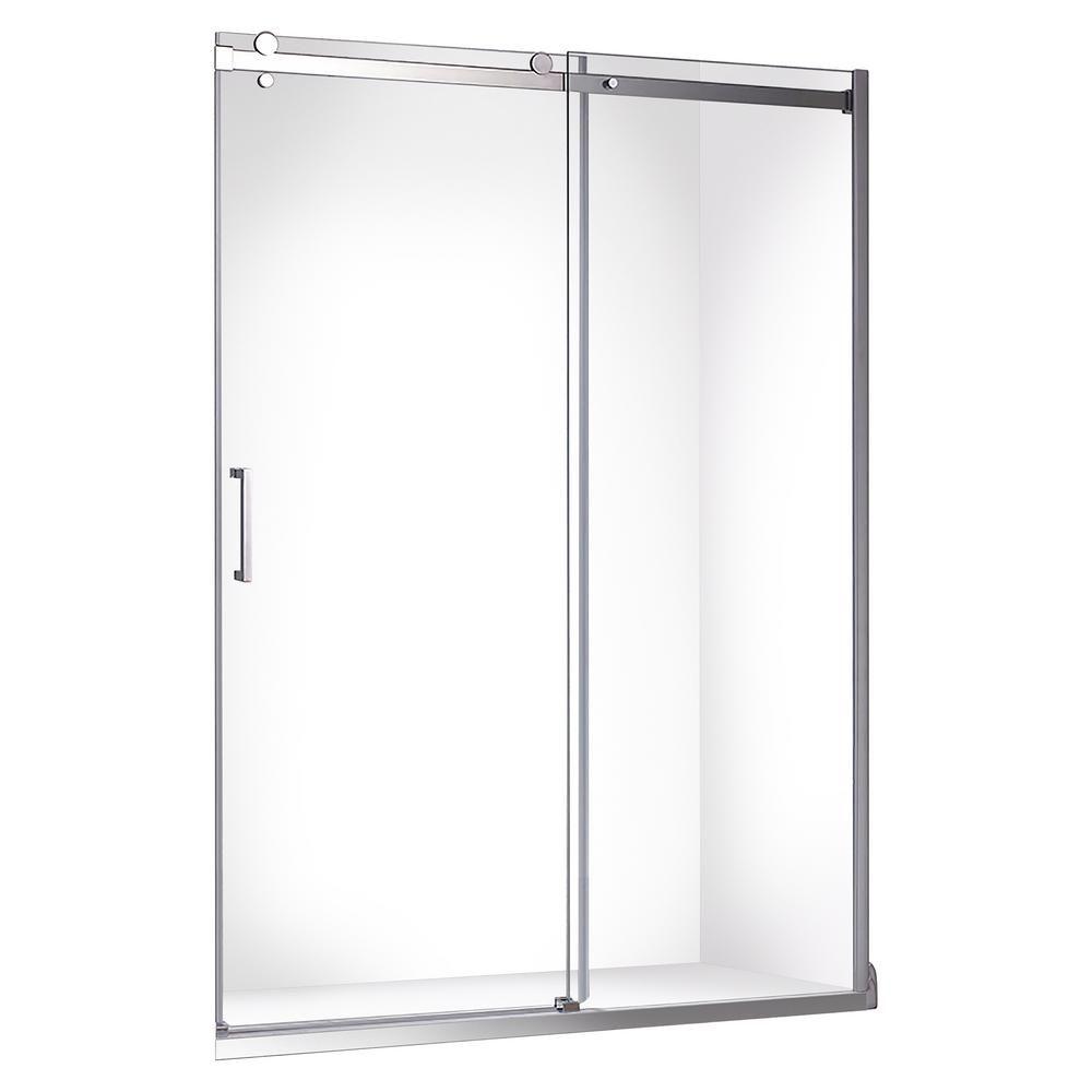 Jade Bath Quartz 48 in. x 78.75 in. Frameless Sliding Shower Door in Chrome-6440-48-10 #framelessslidingshowerdoors
