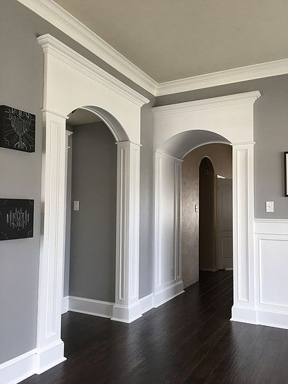 Diy Columns And Arch Trim Made Out Of Mdf And Store Bought Moldings See How It Was Put Together Over At Archways In Homes Moldings And Trim Buy Interior Doors
