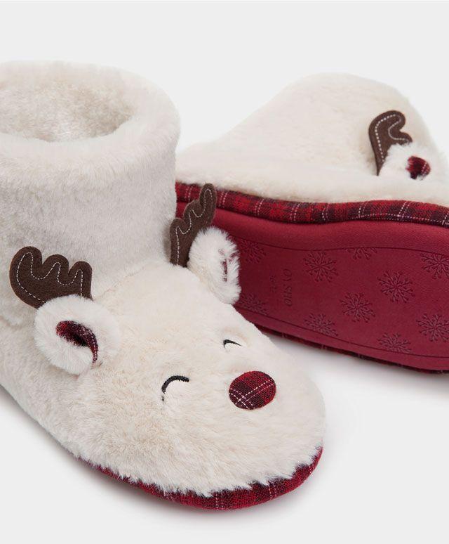 Mode Pantoufle Anti-dérapante Chausson Mouton Confortable Pantoufles d'intérieur Pantoufles en Hiver Blanc 38 iqtXYFAAn0