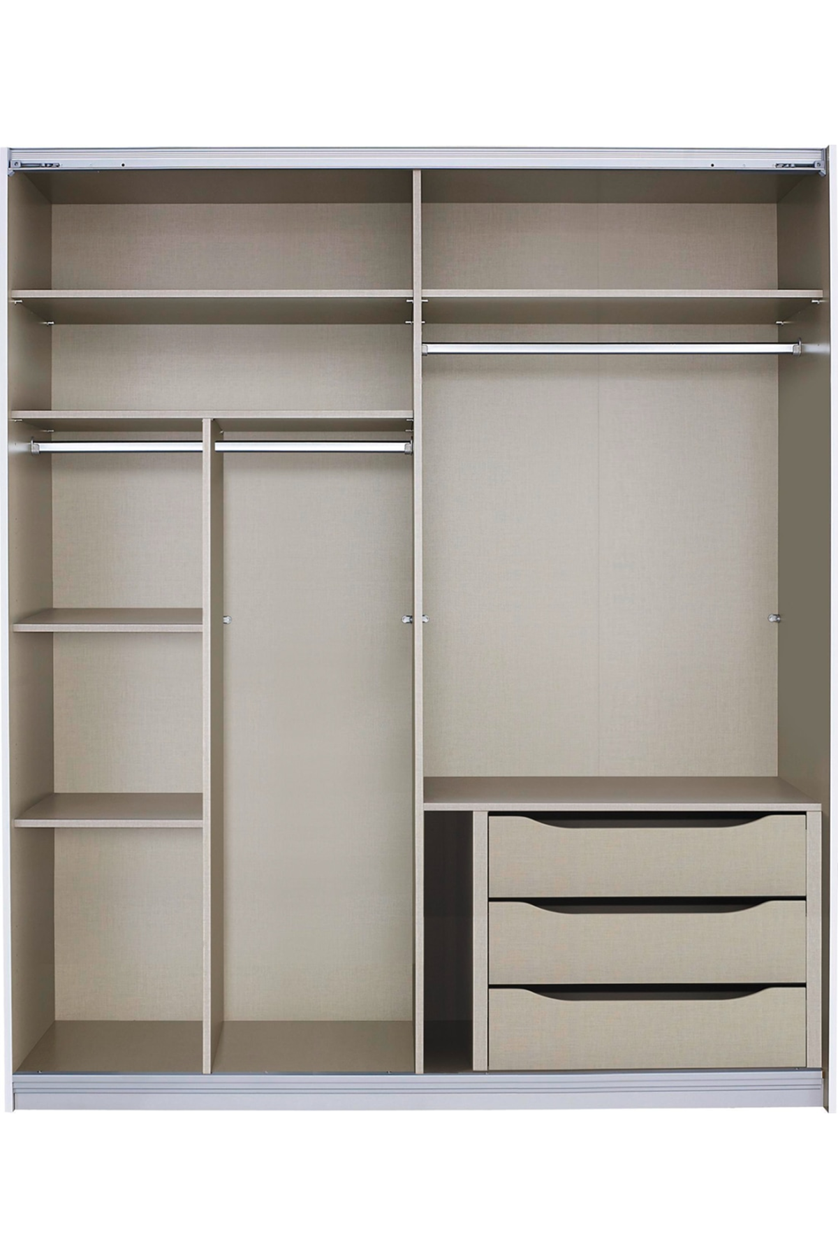 Malix 181cm Sliding Wardrobe Premium Interior Package Wardrobe
