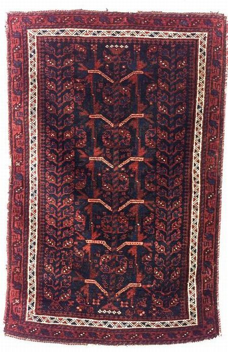 Baluch Balischt Northeast Persia Last Quarter 19th Century 2 Ft 10 In X 1 Ft 10 In Skinner Auctioneers Sale 2276