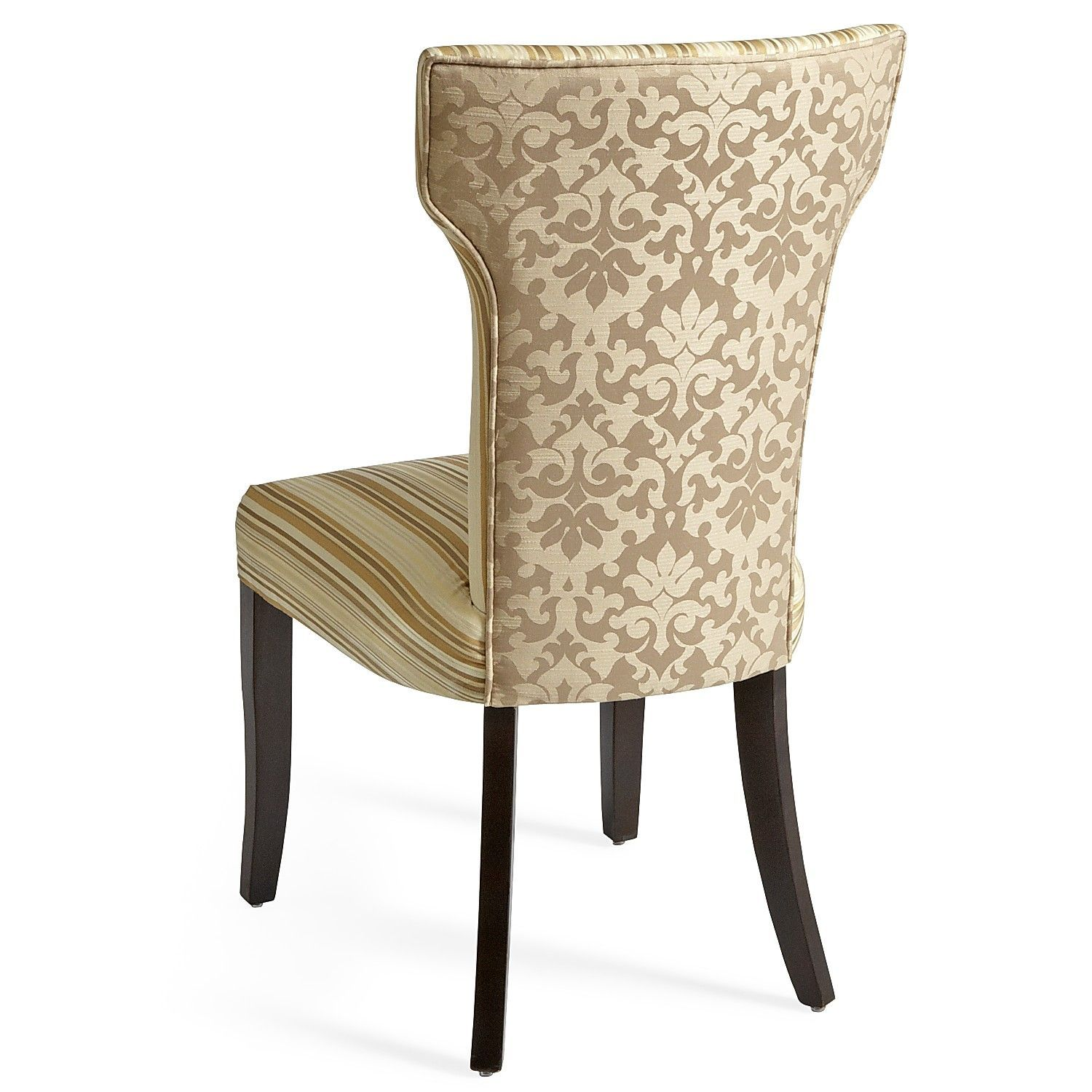 Carmilla Dining Chair Ivory Stripe 169 Chair, Dining