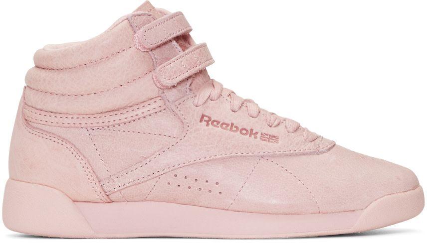 40670ebc65211 Reebok Classics - Pink Freestyle High-Top Sneakers