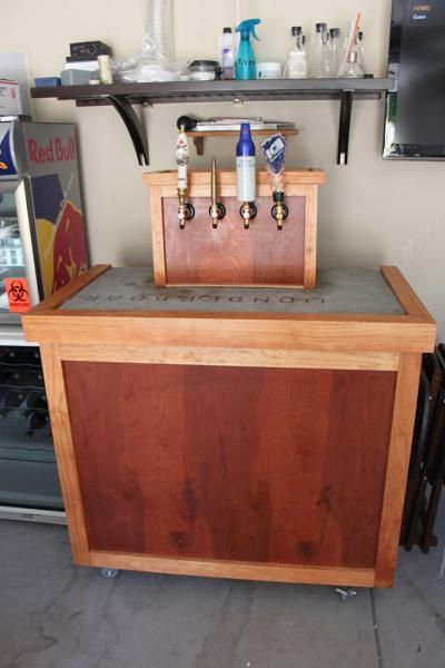 New kegerator diy build home brew forums furniture for Home bar with kegerator space